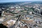 T-Bone Interchange, Stack interchange, Interstate Highway I-75, I-71, Maze, tangle, overpass, underpass, intersection, exit, entrance, Cincinnati, urban, VARV03P03_12