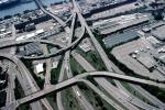 Interstate Highway I-75, I-71, Interchange, Maze, tangle, overpass, underpass, intersection, freeway, highway, exit, entrance, entry, Cincinnati, urban, VARV03P04_02