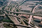 Maze, Interstate Highway I-75, I-71, Maze, tangle, overpass, underpass, intersection, interchange, freeway, highway, exit, entry, Downtown Cincinnati, urban