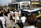 Passengers boarding a Bus, Crowds, Atianza, 1950s, VBSV01P02_02
