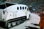 Bombardier B Series Snowmobile, Bombardier B-12, Snow Track, Columbia Ice Glacier, Canada, Tour, off-road locomotion, 1950s, VBSV01P08_11