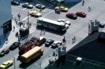 CTA, sightseeing bus, intersection, cars, taxi, crosswalk, VBSV02P01_15