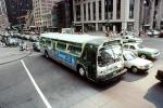 GMC Bus, cars, intersection, busy Downtown, CTA, VBSV02P01_19