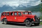 Model 706, White Motor Company, Red Jammers, Glacier National Park, Montana, 1950's, VBSV02P04_06B.0144