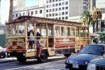 Cable Car Bus, Union Square, San Francisco, downtown, downtown-SF, Sak Fifth Avenue, VBSV03P08_14