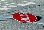 dead STOP sign
