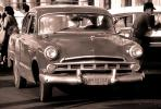 old-time taxi, Havana, automobile, 1950s, VCCV05P02_13B