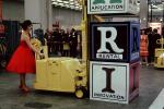 Woman with a Red Dress, Clark Forklift, July 1962, 1960s, VCDV01P01_05