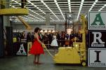 Woman with a Red Dress, Model, dress, Heavy Equipment Convention, Clark Forklift, industry, July 1962, 1960s, VCDV01P01_06