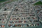 parking lot, parked cars, stalls, automobile, sedan, VCRV02P01_07