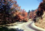 Highway, Roadway, Road, Fall Colors, Autumn, Deciduous Trees, Woodland, VCRV05P02_01