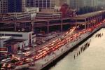 traffic jam, the Embarcadero Freeway, Loma Prieta Earthquake, 1989, 1980's, Car, automobile, VCRV06P10_08B