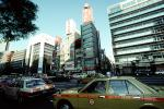 car, Vehicle, buildings, highrise, Ginza District, Tokyo