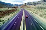 dashed lines, Interstate Highway I-15, Road, Roadway, Northwestern Arizona, vanishing point, VCRV11P02_18