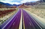 Interstate Highway I-15, dashed lines, Road, Roadway, Northwestern Arizona, vanishing point, VCRV11P03_01