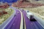 dashed lines, Interstate Highway I-15, Road, Roadway, Northwestern Arizona, vanishing point, VCRV11P03_04