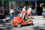 1972 Norsjo Shopper, Shopper Mopedbil, Minicar, three wheeler, tiny, small car, vehicle, microcar, 1970s, VCRV11P14_17
