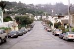 Sausalito, cars, vehicles, homes, houses, hill, fog, VCRV16P13_16