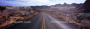 Valley of Fire, east of Las Vegas Nevada, Road, Roadway, Highway, Panorama