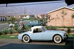 MG Sports Car, Vehicle, white wall tires, July 1963, 1960's