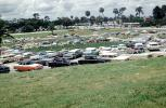 Parked Cars, Parking Lot, Florida, 1959, 1950's
