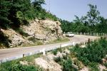 Ford Falcon, Road, Highway, Curve, Eureka Springs, Arkansas, 1960's, VCRV20P08_11