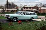 Ford Country Squire Station Wagon, Car, suburbia, suburban, lawn, homes, houses, 1969, 1960s