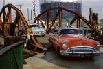1954 Buick Skylark, Oldsmobile, crossing a bridge, Dagmar Bumps, 1950s, VCRV21P10_16