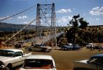 Royal Gorge Bridge, 1958 Chevy Bel Air, cars, Dodge, Suspension Bridge, Colorado, June 1960, VCRV22P02_12
