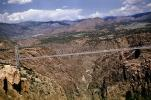 Royal Gorge Bridge, Arkansas River, Suspension Bridge, Colorado, June 1960, VCRV22P02_17