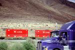K-Line, Kenworth, Piggyback Container Train, Durkee