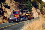 west of Paxton, north fork of the Feather River, flatbed trailer, Semi, VCTV04P02_06.0569