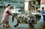 Hauling Garbage for Recycle, woman, sari, Lady, Women, Female, on the Streets of Mumbai,