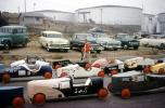 Cars, Oil Tanks, Starting Line, 1950s