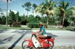 Woman on a Motorcycle, hat, Palm Trees, VMCV02P10_05