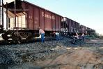 Gravel Hopper railcar, Train accident near Kingman, Arizona, caused by flash flooding, daytime, daylight, VRAV01P15_13