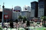 Union Square, Bell Ringing Contest, Macy's, buildings, downtown, downtown-SF, Saint Francis Hotel, VRCV01P11_09