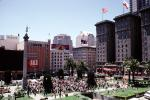 Union Square, Bell Ringing Contest, Macy's, buildings, downtown, downtown-SF, Saint Francis Hotel, VRCV01P11_10