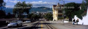 Russian Hill, Hyde Street, Panorama, incline, VRCV02P10_03