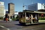 Cable Car, Union Square, Downtown San Francisco, 1950's, VRCV02P13_09