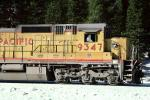 UP 9347, GE C40-8, Union Pacific Railroad Company, Royal Gorge, Sierra-Nevada Mountains
