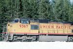 UP 9367, GE C40-8W, Union Pacific, Royal Gorge, Sierra-Nevada Mountains