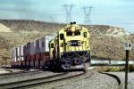 Santa-Fe, SANTA FE C30-7 #8166, Cajon Pass, California, 1993, blue/yellow, piggy-back