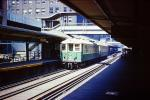 Chicago Elevated, El, CTA, downtown, buildings, 6000 series trainset, September 1971, 1970s