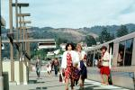Women Passengers leaving a BART Train, commuters, 1980s, VRHV02P02_09
