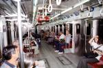Subway Cars, Buenos Aires, commuters, people, interior, VRHV02P06_18