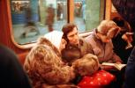 couple, love, scarf, Sleeping Passengers, Tired, Fur Coats, Male, Female, cold, commuters, weary