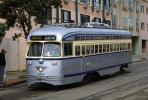 Muni, F-Line, Trolley, No. 1054, PCC, San Francisco, California