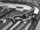 crash, Model Railroad Layout, homes, houses, tracks, 1950s, VRMV01P09_07
