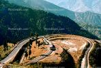 horseshoe bend, Darjeeling, West Bengal, 1950s